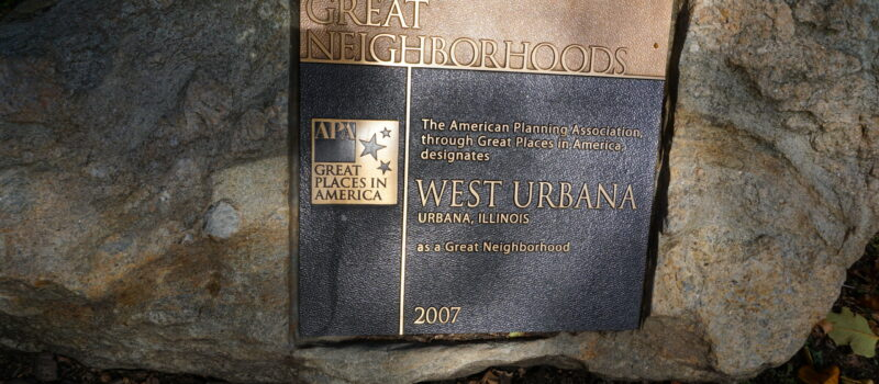 Great Neighborhood Plaque in Carle Park